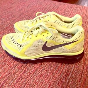 Nike Air Max. Size 6.5 W or 5Y. Highlighter Yellow